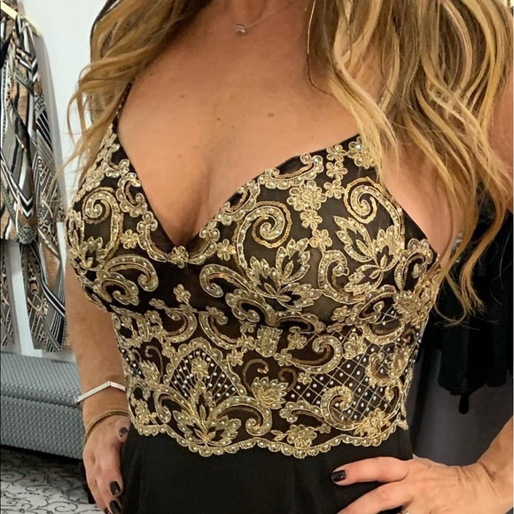 Jovani Dresses & Skirts - Black and gold gown by Jovani